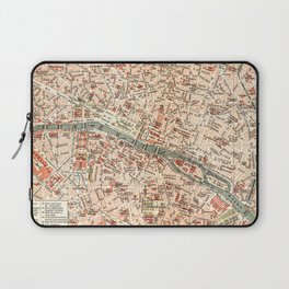 Vintage Map of Paris Laptop Sleeve