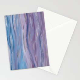 Touching Purple Blue Watercolor Abstract #2 #painting #decor #art #society6 Stationery Cards