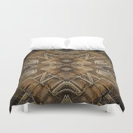Metal Vintage Letter Abstract Duvet Cover
