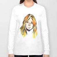 lindsay lohan Long Sleeve T-shirts featuring Lindsay by Allison K.