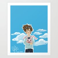 digimon Art Prints featuring Digimon Tri by lulovera