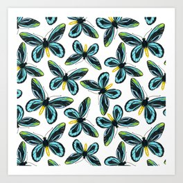Queen Alexandra' s birdwing butterfly pattern design Art Print