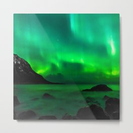 Northern Lights (Aurora Borealis) 5. Metal Print
