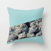 succulents Throw Pillows featuring Succulents by Leah Flores