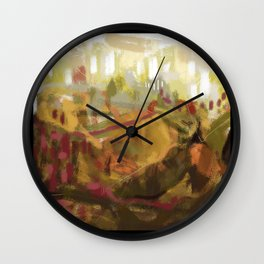 Abstract landscape 7 Wall Clock