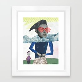 """Love Is Like Cocaine"" by Katherine Streeter for Nautilus Framed Art Print"