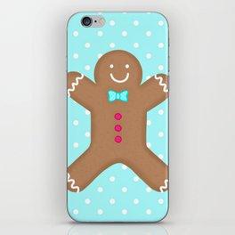 Yummy Gingerbread Man Cookie iPhone Skin