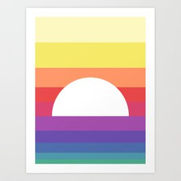 saturday sunset Art Print