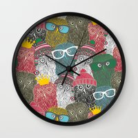 it crowd Wall Clocks featuring The crowd. by panova