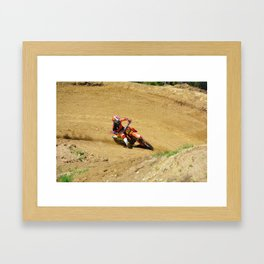 Turning Point Motocross Champion Race Framed Art Print