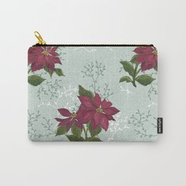 Victorian Poinsettia Christmas Carry-All Pouch