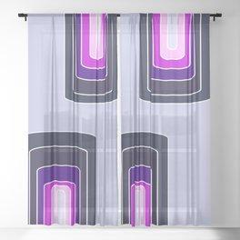 Space rainbow Sheer Curtain