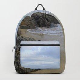 Turquoise Waves Crashing on Porthmeor Rocks Backpack