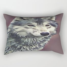 The Tundra Wolf Rectangular Pillow