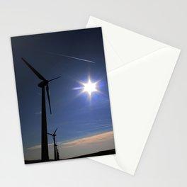 Windfarm and Blue Sky Stationery Cards