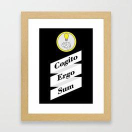 Cogito Ergo Sum Framed Art Print