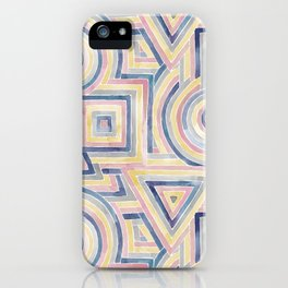 Primary Shapes iPhone Case