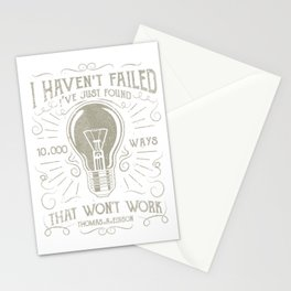 10,000 Ways That Won't Work Vintage Retro Quote Stationery Cards