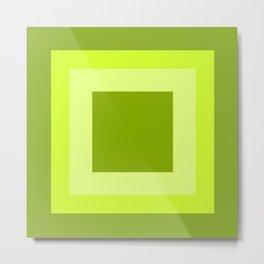 Lime Green Square Design Metal Print
