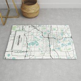 Orlando Florida City Map with GPS Coordinates Rug