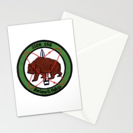 USS MARIANO G. VALLEJO (SSBN-658) PATCH Stationery Cards