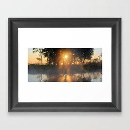 Hazy River Panorama Framed Art Print