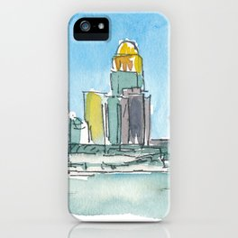 Louisville Kentucky USA Skyline Impressionistic View iPhone Case