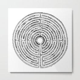 Chartres Garden Metal Print