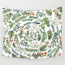 water color rotation garden Wall Tapestry
