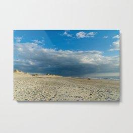 Thunderstorm Passing By Cloudy Sky Hvide Sande Beach Denmark 2 Metal Print
