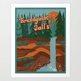 Brandy Wine Falls Art Print