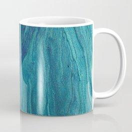 Safire blue fluid colors modern marble Coffee Mug