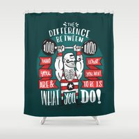 strong Shower Curtains featuring Strong Man by Matthew Taylor Wilson