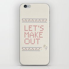 Let's make out iPhone Skin