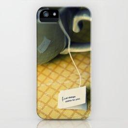 listen to your tea iPhone Case