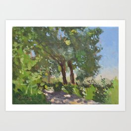 Italian Countryside Landscape Painting Art Print