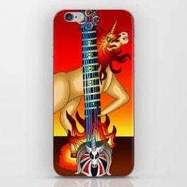 Fusion Keyblade Guitar #188 - Unicornis' Keyblade & Eternal Flame iPhone Skin