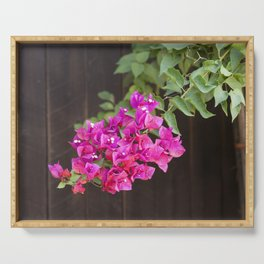 Pink Bougainvillea Serving Tray