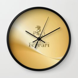 Ferari Gold Wall Clock