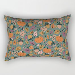 Fall Pumpkin Field Rectangular Pillow