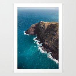 Makapuu Point Lighthouse, Oahu Hawaii Art Print