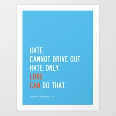 Love Can Quote Art Print