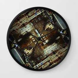Inside (Series: 'empty city full of lonely people') Wall Clock