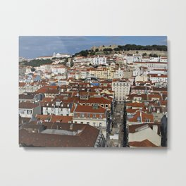 City View Of Lisbon Metal Print