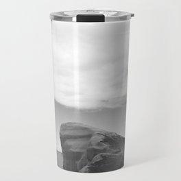 Tunnel Beach - black and white Travel Mug