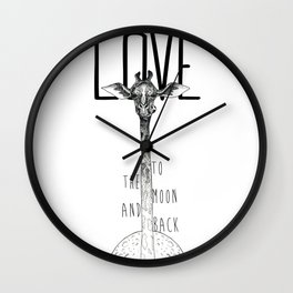 LOVE TO THE MOON AND BACK Wall Clock