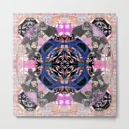 Fifth Eye Vortex Healing Mandala Metal Print