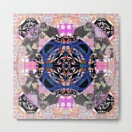Fifth Eye Vortex Healing Mandala Metal Print