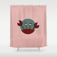 crab Shower Curtains featuring Crab by Mr and Mrs Quirynen