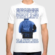 George South - The Last Rassler Mens Fitted Tee SMALL White